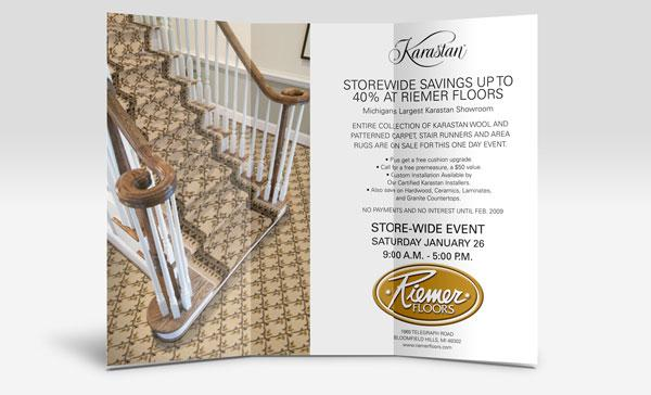 Riemer Floors Direct Mail Advertisement