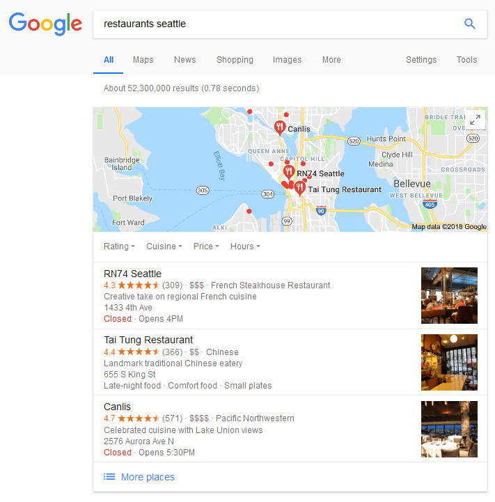 search results with troy location