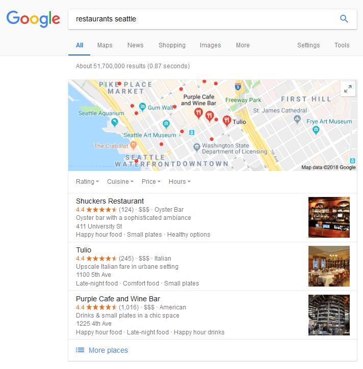 change google location search results