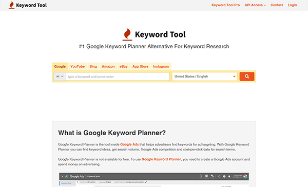 keyword tool for local keyword research